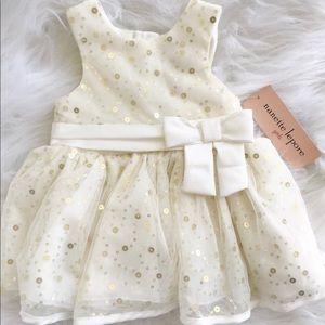 NWT Nanette Lapore Girls White Party Dress Sequin